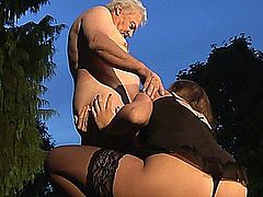 Young girls fucked by older dude