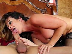 Raquel DeVine has fire in her eyes as she gets her wet hole slam fucked hard and deep by Xander Corvus