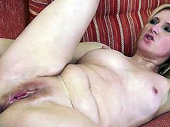 Blonde Jennyfer gets her mouth fucked silly by fuck hungry guy