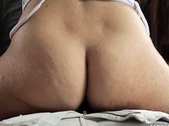 Captivating brown-haired milf Kristall Rush is having a good time with her man. She drives him crazy with a blowjob and then they have amazing sex in cowgirl position.