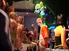Amazing and hot like hell chicks with nice butts can turn any haunt into a nonstop swinger party. Zealous sluts in bikinis and shorts have a strong desire to eat and tickle each other's juicy pussies right on the soapy dance floor.