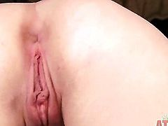 Pretty hansome blonde girl Ashley Stone being horny and naughty on her own, she is fondling her clitoris and then fingering her pussy
