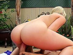 Tight cocked Danny Mountain got his dick sucked by Mia Malkova at the backyard and bent her over in doggy pose and licked off her ass