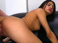 Adorably sexy stunner Veronica Rodriguez shows her love for cunt slamming in insane hardcoreaction with hot dude