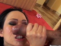 Hot and steamy oriental bitch is everything your hart desires. She gets her gorgeous ass fucked hard and after gets messy facial. Be pleased with one another Premium HD sex tube video.
