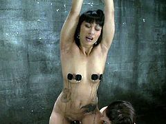 This smoking hot and sexy babe Dragon Lily is going to be humiliated and tortured by Bobbi Starr. This is will be the most amazing lesbian BDSM that you've ever seen!