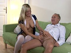 She masturbates her pussy in solo and after Jim Slip helps her to cum. he thrusts his dick in her juicy slit and fucks her without mercy.