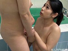 Two smoking hot and lusty babes Minami Ayase and her best mate are having a sensual and wet lesbian sex in the bath. Pussies are being pleased!