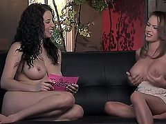 Big boobed girl Jelena Jensen got her cloths off and is being nicely teased all over by her sweet girlfriend, that is not shy to do this on camera.