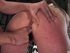 This desirable and super luscious siren Lorelei Lee is under the BDSM fantasies of Sabrina Fox. Babe gets tied up and her nipples get some light charges, being wired!