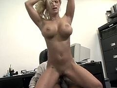 Shyla Stylez bounces up and down on a big black cock in this horny secretary scene. She gets it deep inside her tight asshole and loves it!