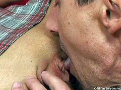 Sextractive brunette milf in frisky college uniform gets her cunt polished by rapacious daddy before they switch the roles and she is the one who gives a mouth fuck in sultry sex video by Pack of Porn.