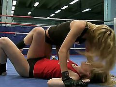 Blonde Cindy Hope is horny as hell in lesbian action with Sophie Moone