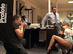 Jenny worked as a flight attendant, but now she is a secretary. However, she still wants to swallow cocks and it doesnt matter for her where or with whom to do it. Watch and have fun