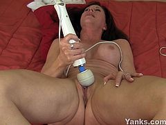 She has that innocent look but she is not afraid to share her sexuality scenes.In this hot masturbation video she reveal her sweet shaven pussy,Before long she's takes her long dildo deep inside her pussy until she has a strong orgasm.