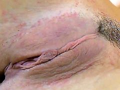Eliska Cross is on the way to orgasm in solo action
