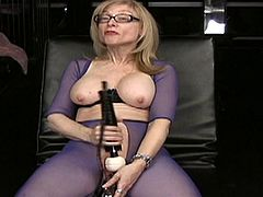 Blonde mature in wild solo