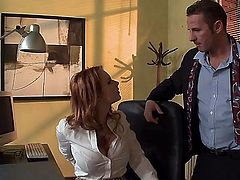 David Perry shows nice anal tricks to Tarra White with huge boobs with the help of his sturdy pole