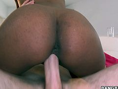 Damn, dude, don't be a dull one and check out incredibly hot Bang Bros Network sex clip. Ardent slim black gal with sweet tits sucks a dick so passionately as if it's her last chance to be fed with gooey cum. Impressively voracious bitch with nice ass is a terrific rider, who surely knows how to reach orgasm in a flash.