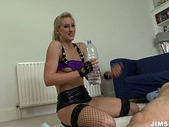 His cock feels so god in her hot and tight anal hole. He drills her hard in all possible styles. She likes the way he penetrates in her deep anal hole.