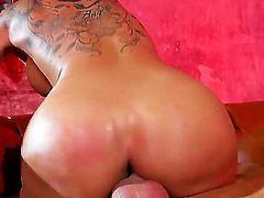 Kayla Carrera with gigantic breasts enjoys the earth moving fuck with hot dude Keiran Lee
