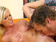Elaina Raye with small butt and bald cunt enjoys wet spot stretching in insane pornaction with Michael Vegas
