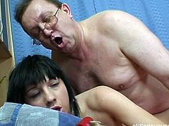 Pack of Porn sex clip provides you with a really voracious pretty brunette. This slim gal with nice tits gets absorbed with riding a dick outdoors. Then this slut invites fat ugly dude home to be fucked doggy rough.