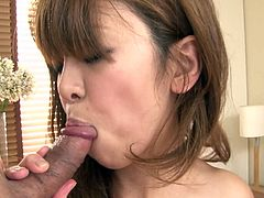 Petite Asian chick loves sucking hard dripping dicks coz she loves the taste of the juice. So she enjoys sucking tasty meat pole in a spicy Jav HD porn clip.