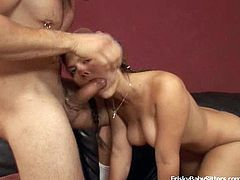 Kinky shit going on in this sort of threesome with two cuties and some dude that fuck like crazy bastards! Check it out right here!