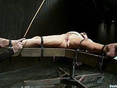 Check out this super hot bondage scene with this big titty motherfucking milf right here. Hit play and watch your boner reach for the sky!