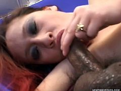 Big booty, pink lips and a pregnant belly, miss Sunshine is a whore that makes our cocks rock solid. This bitch enjoys cum and that made her pregnant but won't stop her to get some more! Here she is sucking this guy with pleasure after she took off her panties and rubbed that pink cunt, will she get it cum filled?
