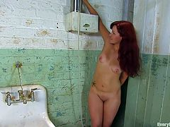 A kinky redhead bitch gets naked and fucking stuffs her asshole with some toys in this kinky ass-stuffing solo scene right here!