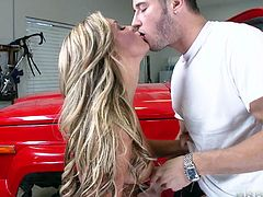 Sweet teen Cameron loves big trucks, but she likes big hard cocks even more! She's a slutty teen who's eager to get fucked, so when she met this guy and saw what a big hard dick he has, Cameron knelt for him. She started licking his balls and then filled her pretty mouth with the penis. Want to see the rest of it?