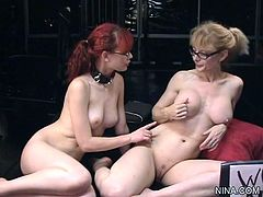 Nina Hartley enjoys warm pleasure