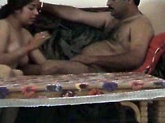 This video is taken by hidden camera. The girl strokes hard dick intensively. Then she blows the stick properly. Kinky amateur sex video of Indian couple.