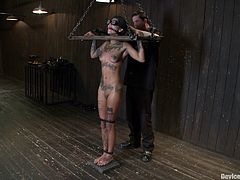 Check out this super hot bdsm scene with a chick with tats that loves getting fucking slapped in the face and abused. It's exhilarating!