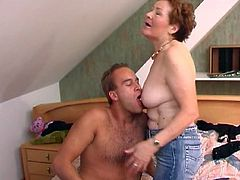 Redhead Granny's Nailed By A Hard Cock