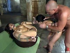 Mark is torturing and fucking two smoking hot Asian babes