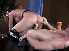 Eva Karera with huge tits cant live a day without getting her mouth banged by horny guy Johnny Sins