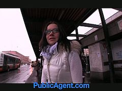 This hot 21 year old babe feels too much cold outside waiting for bus,till she meets warm big cock for her mouth and tight pussy.Nice POV hardcore sex video for you.Enjoy!