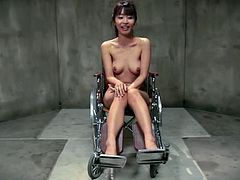 Hot Asian chick Marica Hase is playing dirty games with some guy in a basement. She gets bound and hung up and endures all kinds of tortures.