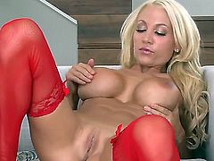 Devon Alexis fucking herself with toy
