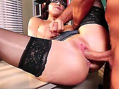 Diana Prince with giant tits takes Keiran Lees love wand doggystyle