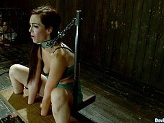 These two sex slaves love getting restrained by machines and devices. Watch them get off in this kinky scene right here!