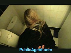 Waitress nailed hard in the restroom