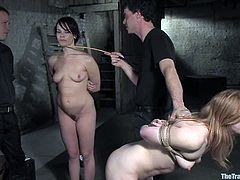 These horny chicks Dana and Madison get painsulted and fucked in their holes. The last one takes time and they love such an anal break from the painsult!