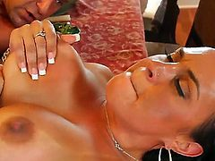 Adorable kitty Mariah Milano gets her honeypot stretched by erect man meat of Jack Lawrence