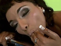 Naughty young brunette bitch Loona Lux hotly posed naked and then bent over and showed her ass and cunt fisting action.