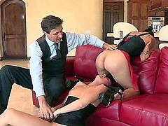 Steve Holmes gets his always hard sausage used by anal-loving Dana Vespoli