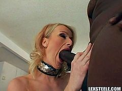 Nothing makes her moan louder than having huge black cock stretching her tight ass hole